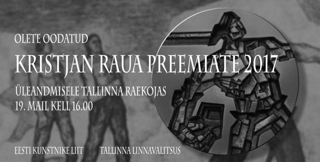 Kristjan Raua preemiad 2017 antakse täna üle - Loov Eesti